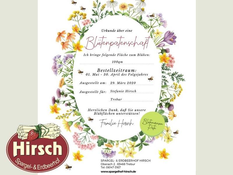 Blütenpatenschaft Spargelhof-Hirsch Trebur