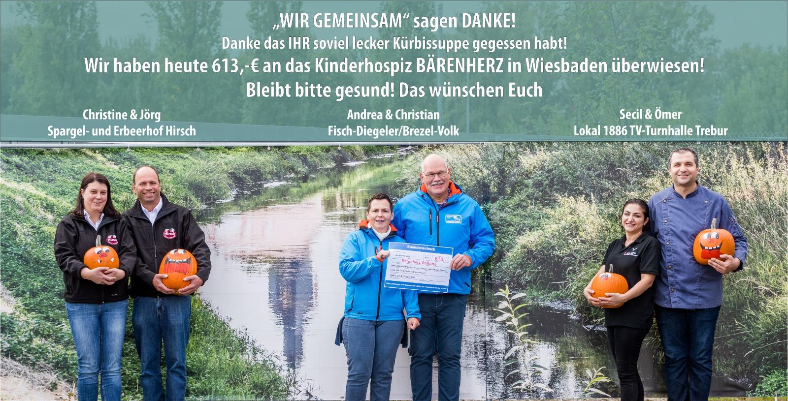 Wir gemeinsam - Spende an das Bärenherz Kinderhospiz in Wiesbaden
